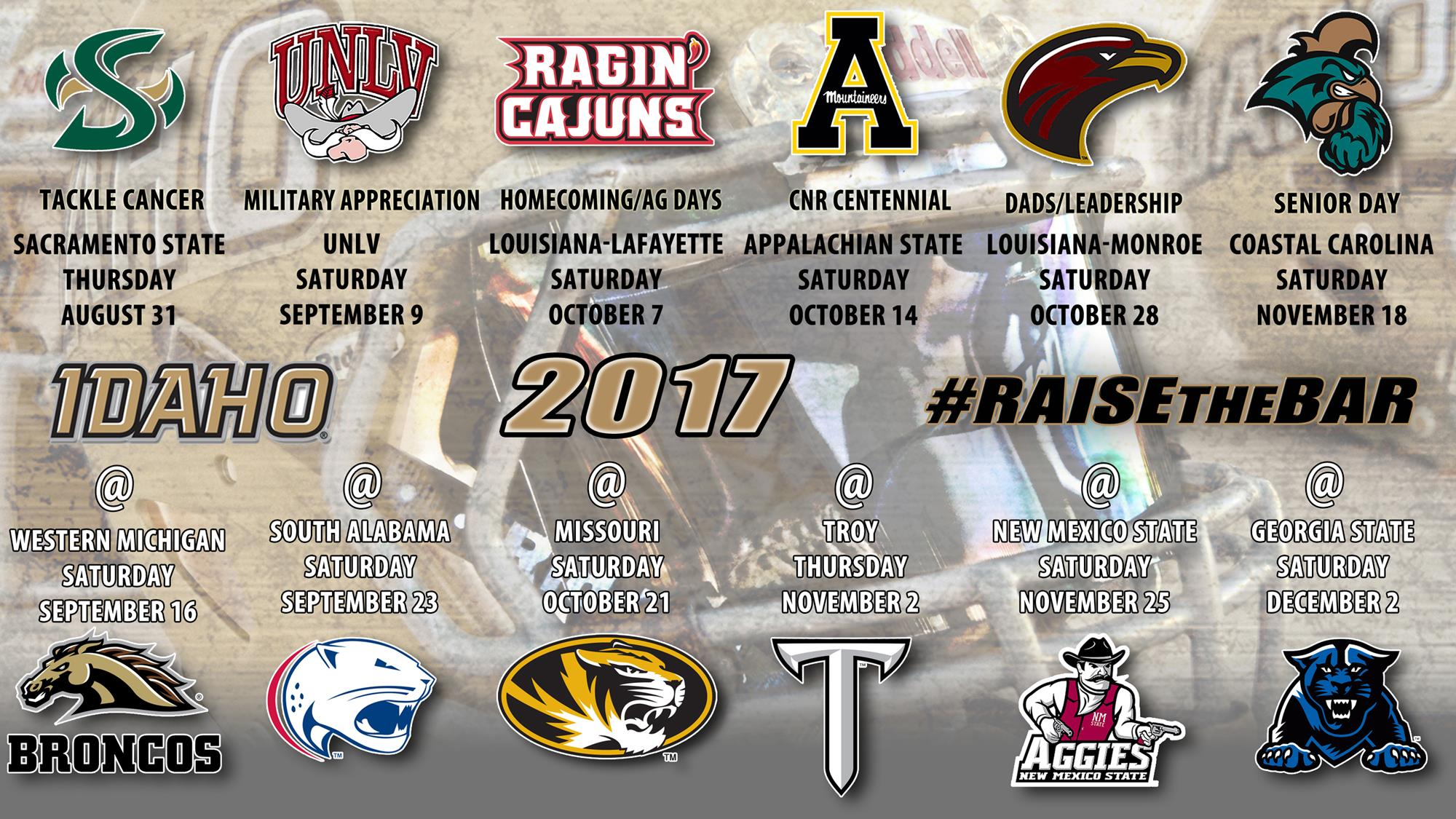 Six Home Games Highlight 2017 Football Schedule University Of
